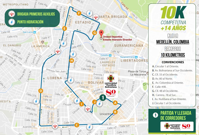 mapa-recorrido-10k-medellin-carrera-verde-colombia