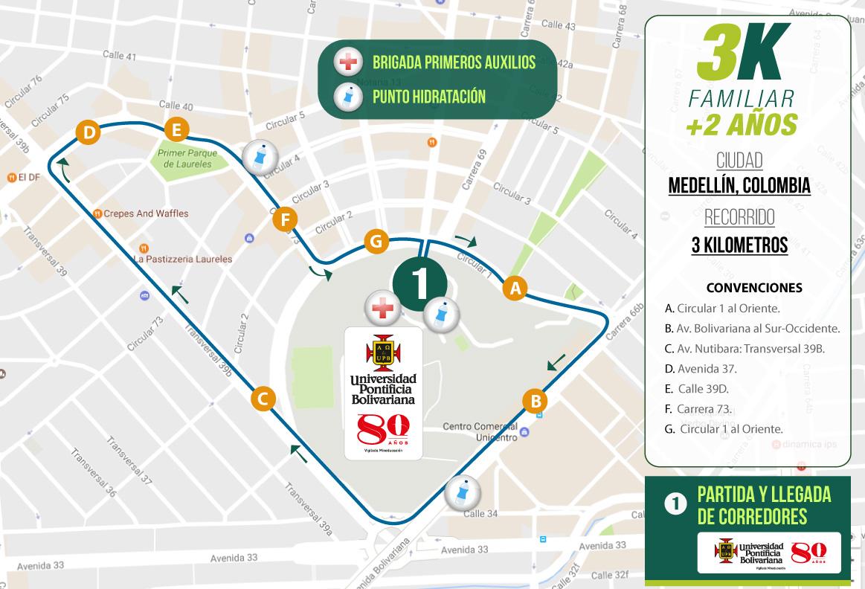 mapa-recorrido-3k-medellin-carrera-verde-colombia